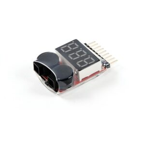 LiPo Battery Voltage Checker 1S-8S with Buzzer(Good Quality)